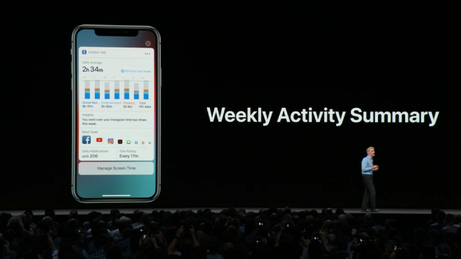 iOS 12 manage screen time