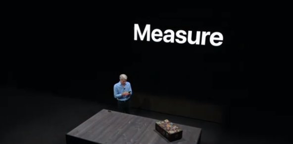 iOS 12 measure app